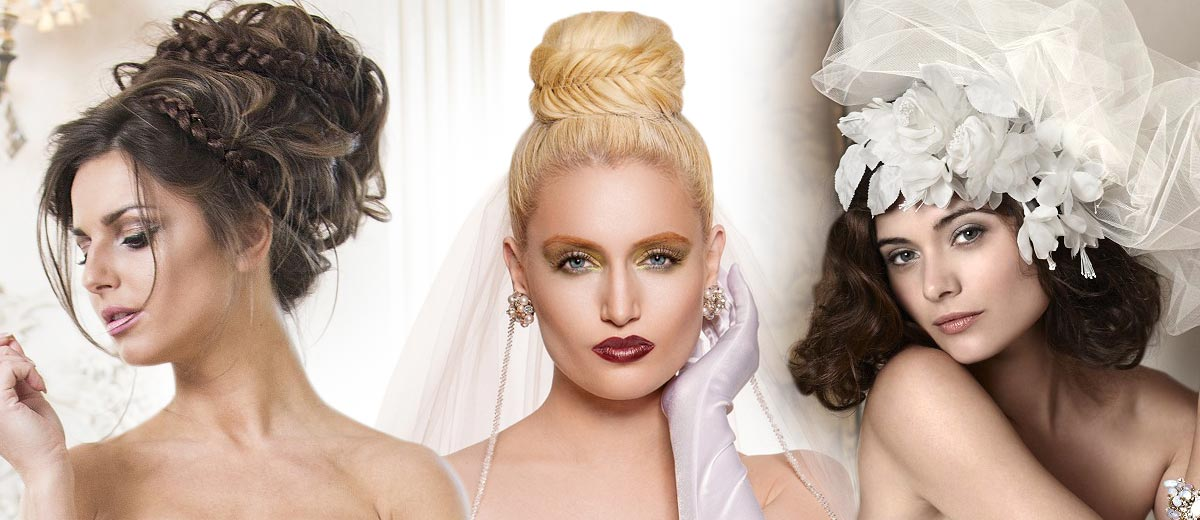 Big gallery of wedding hairstyles for brides introduces you wedding hairstyles for blondies, brunettes with or without veil.