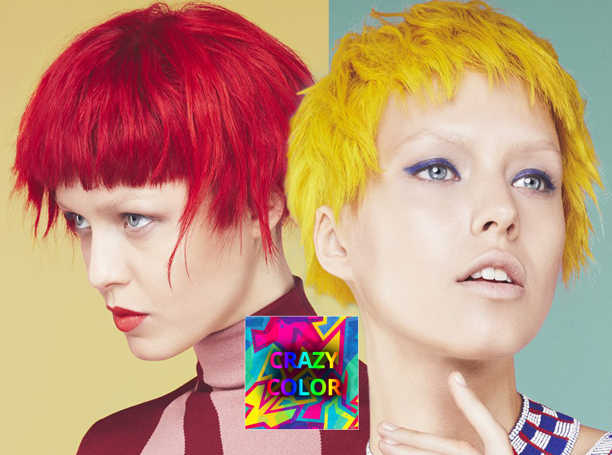 Trendy colors for short hair fall/winter 2015/2016: crazy colors that will not go unnoticed!