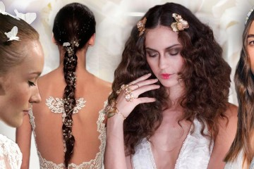 What imaginative wedding hairstyles for spring and summer 2016 were presented by the fashion designers and hair stylists? Look at the trends for weddings and bridal hairstyles 2016.