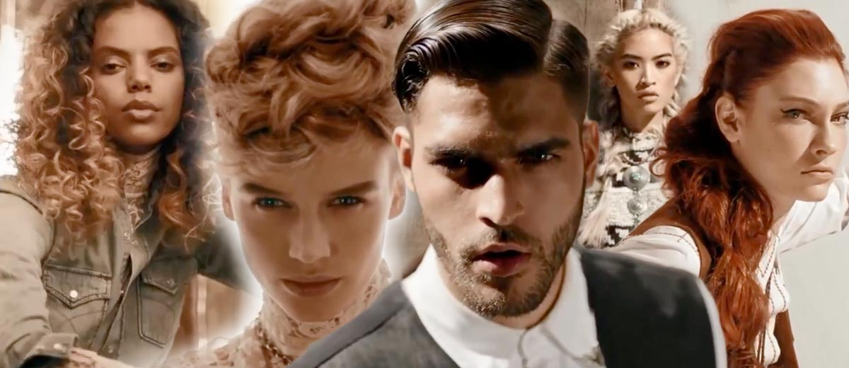 Hairstyling trends Matrix fall/winter 2015 were inspired by pioneers of American West. According to them got named the whole collection: Matrix True Pioneers.