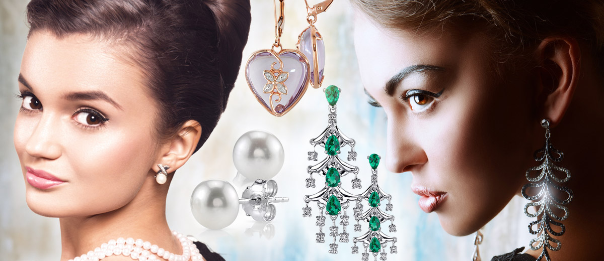 Can you combine earrings and hairstyles correctly? Mainly suitable choice of earrings depends not only on its style but also on its length or colour of your hair.