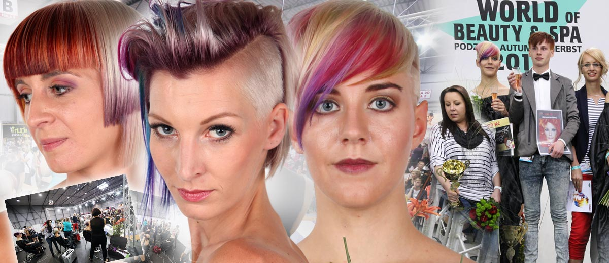 """Traditional hairdressing competition World of Beauty & Spa – Inspiration 2016 have its winners. Hairstyles are beautifully colourful this time – the theme was """"a colour for haircuts""""!"""