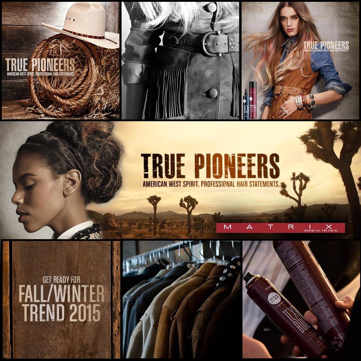 Matrix True Pioneers – autumn/winter 2015: natural inspiration, rustic effects and details covered with secret. Let's discover the magic of the new collection Matrix hairstyles.