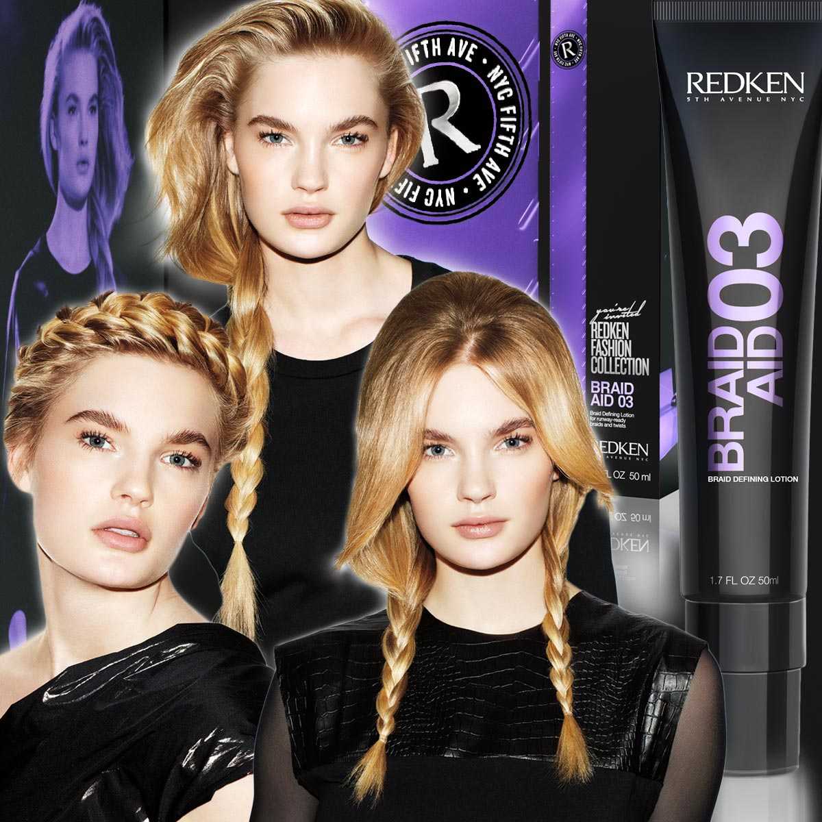 Hairstyles with braids or just classic plaited braids or with plaited braids in a bun will be more perfect if you use the right and quality styling for braids.