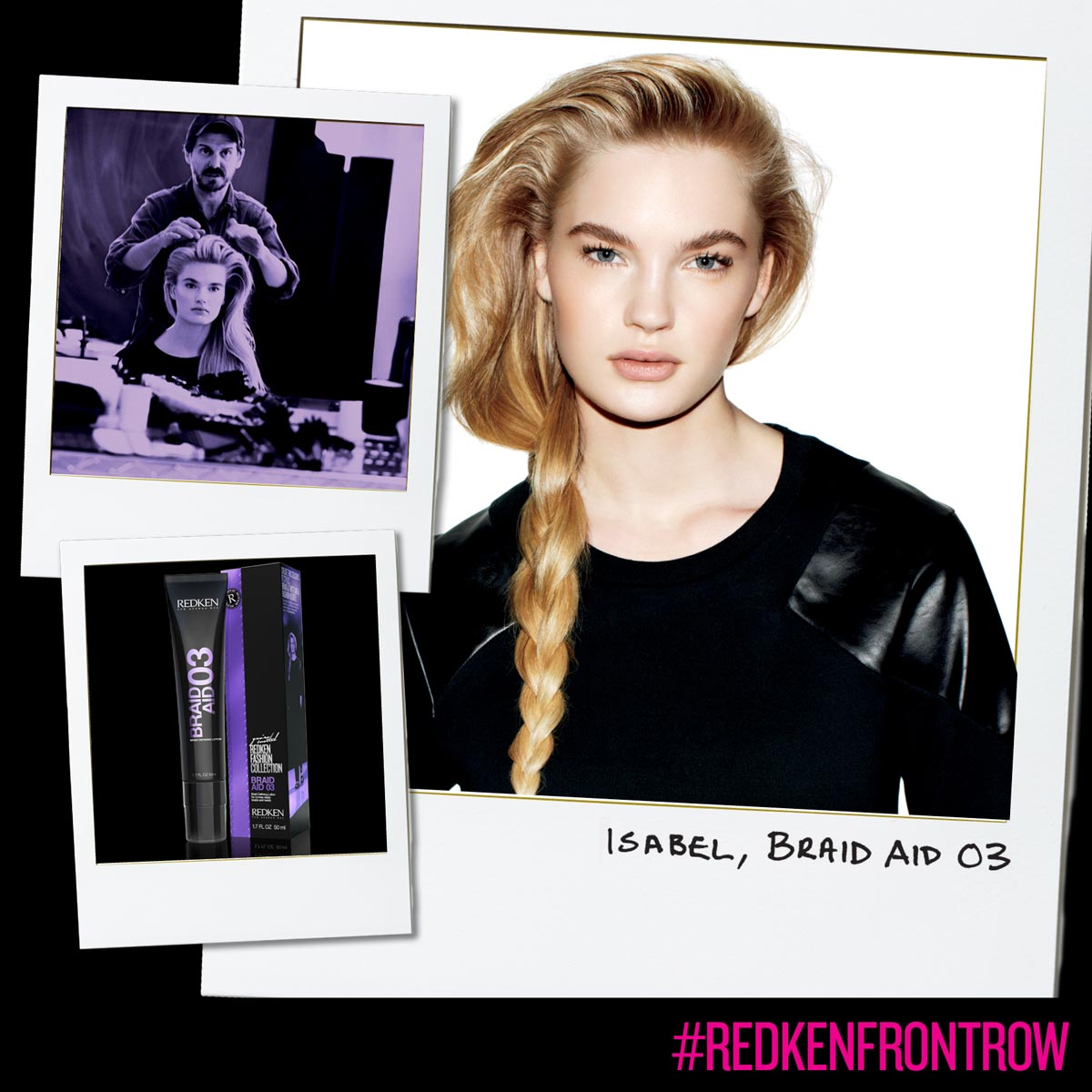 Braid on a side by Redken and styling for braids.
