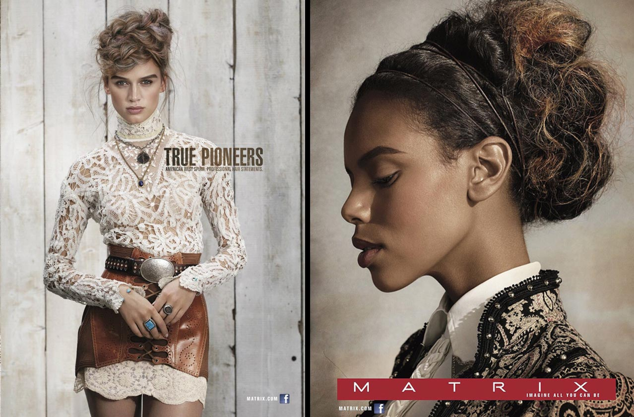 Matrix True Pioneers – hairstyles for autumn/winter 2015/2016 inspired by American pioneers of West