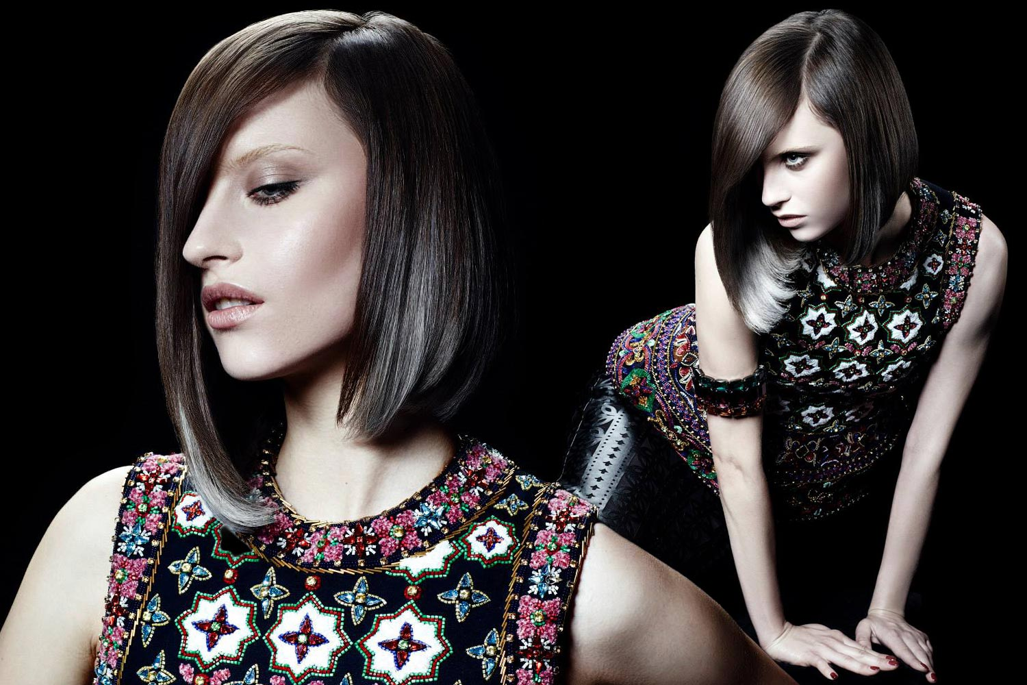 The bob with silver effects from collection Framesi Handmade 2.0 for this fall and winter 2015/2016.
