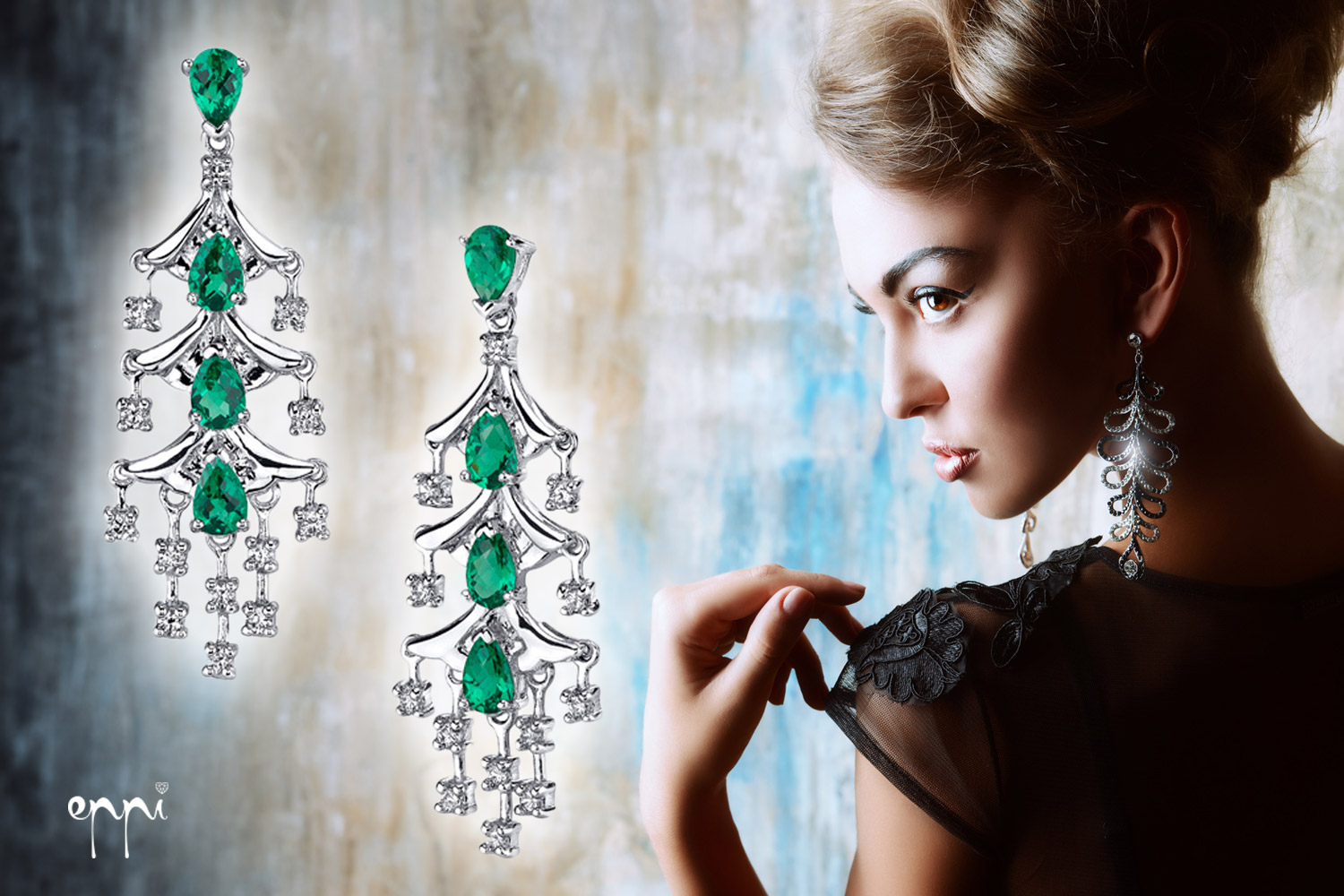 Long earring belong mainly to social hairstyles and hairstyles for party.