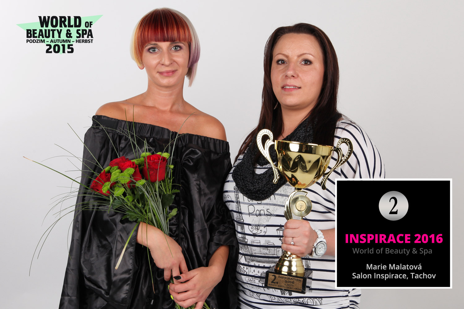 World of Beauty & Spa – Inspiration 2016: 2nd place Marie Malatova, Salon Inspirace, Tachov