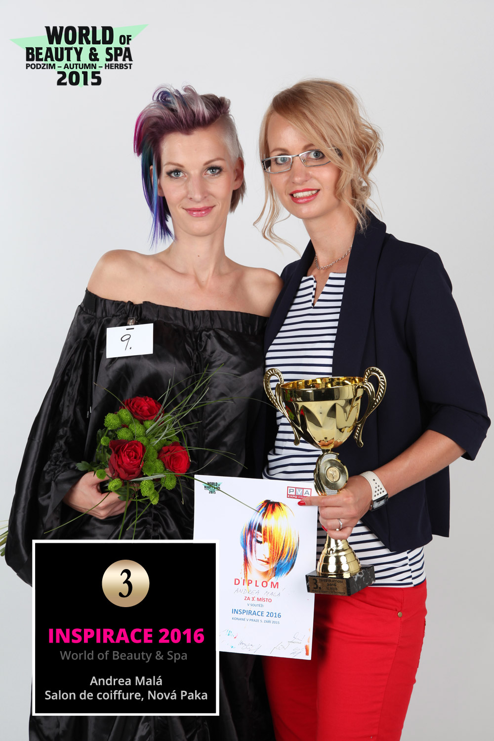 World of Beauty & Spa – Inspiration 2016: 3rd place Andrea Mala, Salon de coiffure, Nova Paka