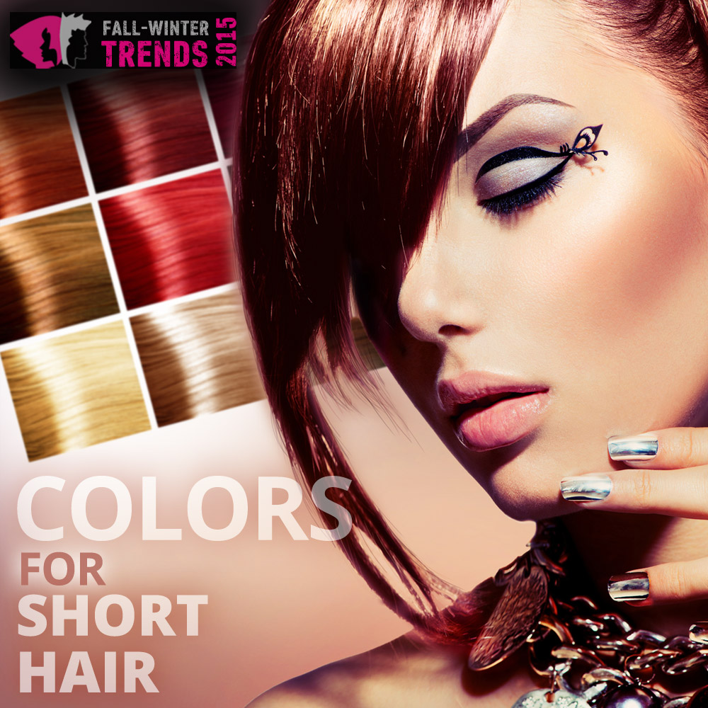 Colors for short hair - trends fall/winter 2015/2016.