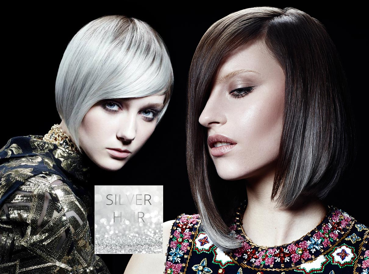 Trendy colors for short hair fall/winter 2015/2016: gray hair became fashion!