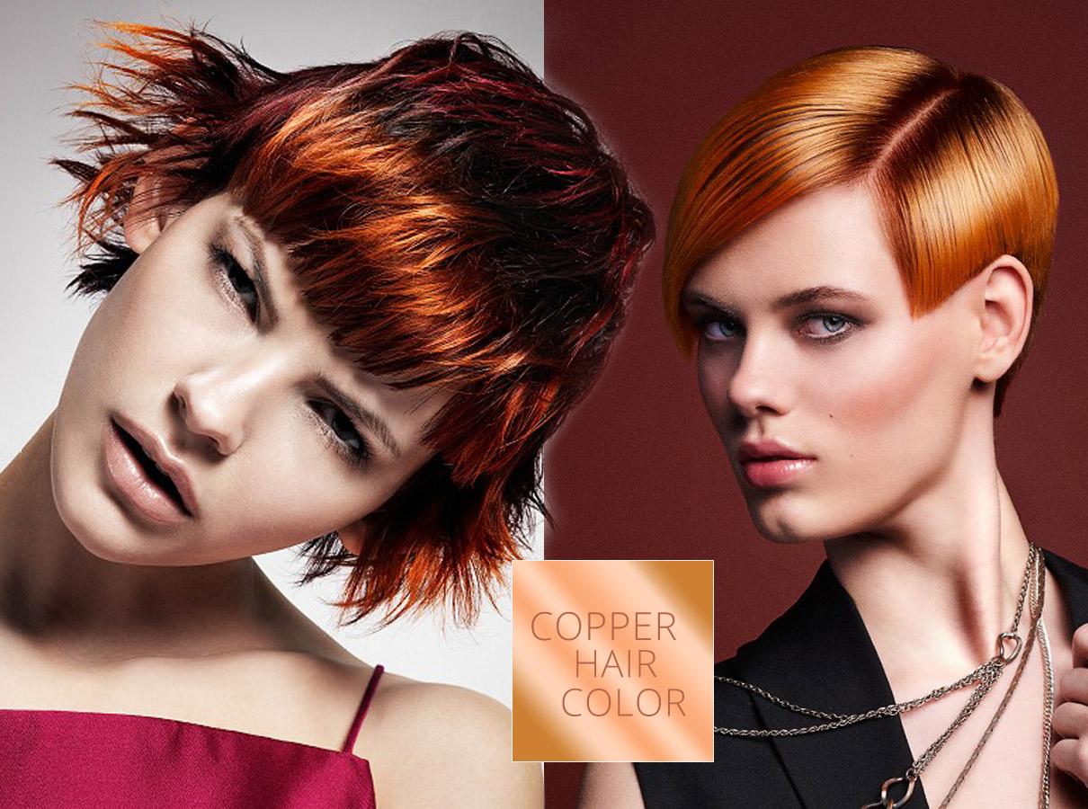 Trendy colors for short hair fall/winter 2015/2016: copper color suits short hair!