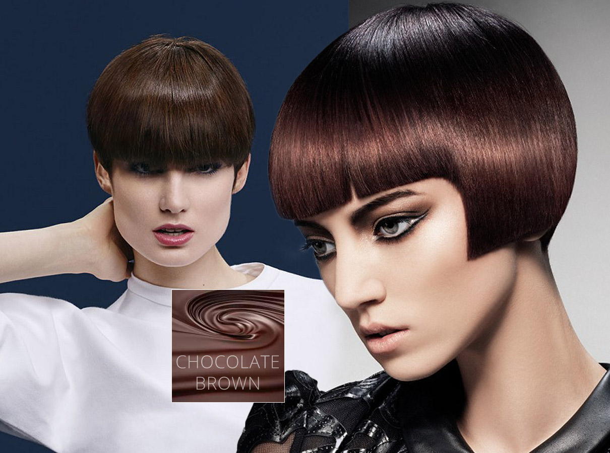 Trendy colors for short hair fall/winter 2015/2016: brunettes will be crazy about chocolate brown haircolor this year!