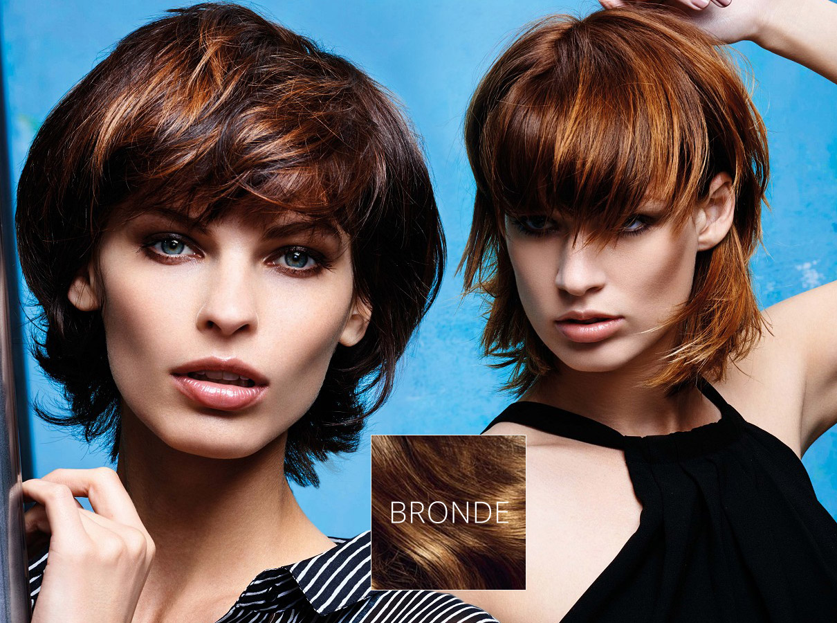 Trendy colors for short hair fall/winter 2015/2016: bronde suits short hair, too!