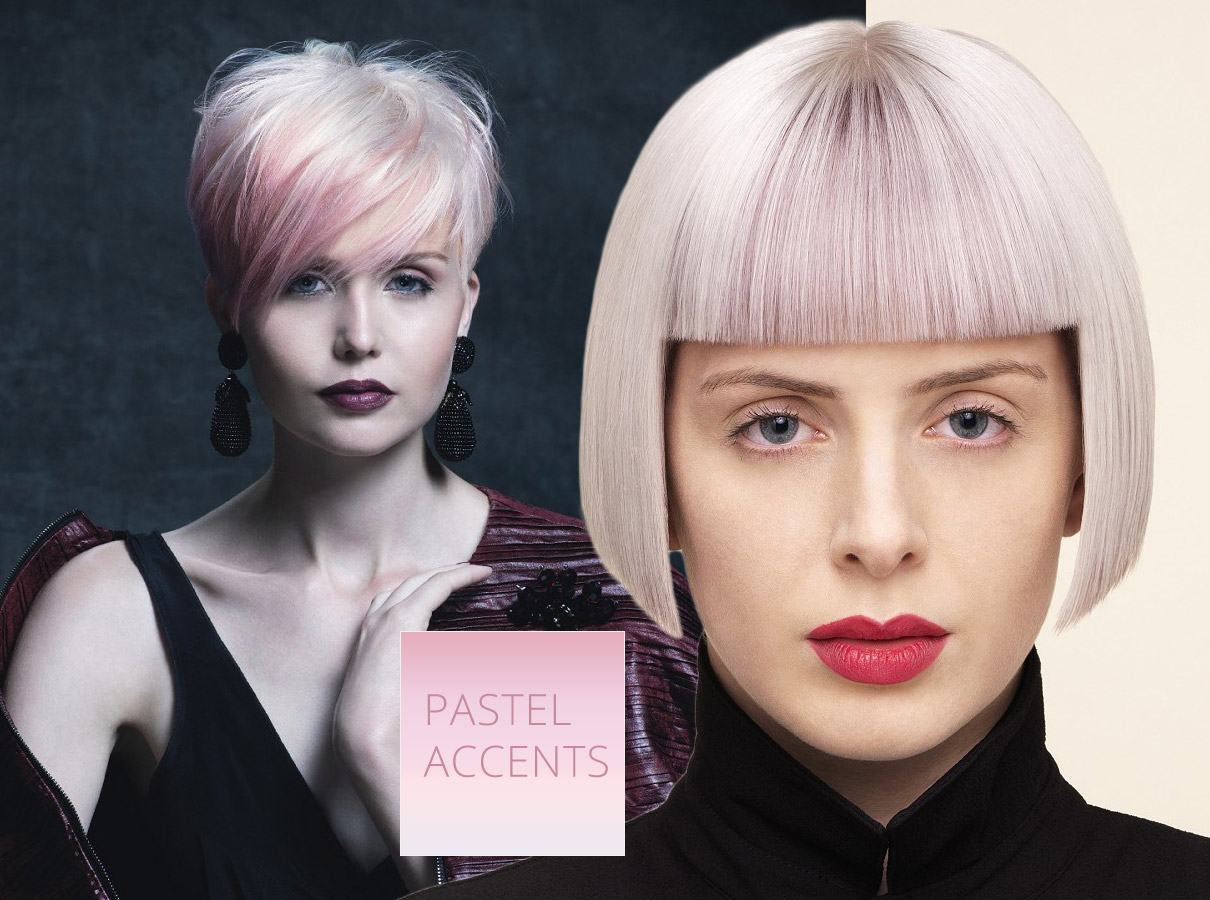 Trendy colors for short hair fall/winter 2015/2016: pink hair color dominates fashion pastels!