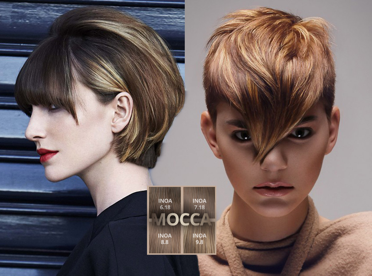 Trendy colors for short hair fall/winter 2015/2016: mokka tones suit hair!