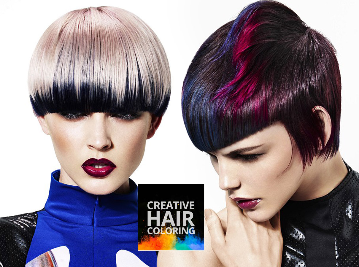 Trendy colors for short hair fall/winter 2015/2016: try creative coloring!