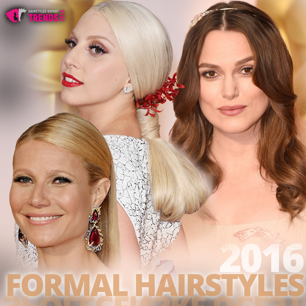 Formal hairstyles 2016 inspired by the red carpet celebrities.